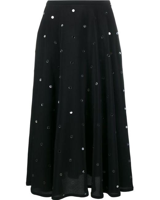 No21 | Женская Чёрная Юбка Декорированная Пайетками