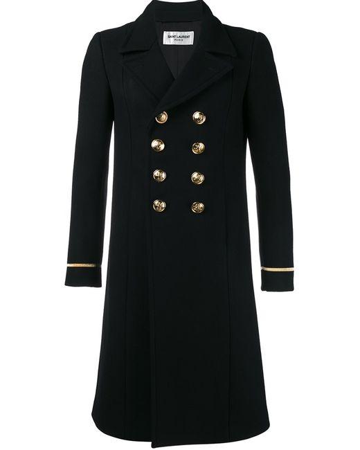 Saint Laurent   Мужское Чёрный Classic 70s Military Coat