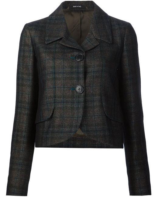 Maison Margiela | Женское Коричневый Checked Cropped Blazer