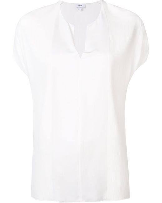 Vince | Женская Белая Блузка C V-Образным Вырезом