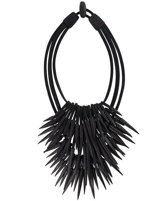 MONIES | Женское Чёрное Ожерелье С Заостренными Деталями