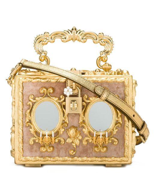 Dolce & Gabbana | Женский Серебристый Клатч В Стиле Барокко