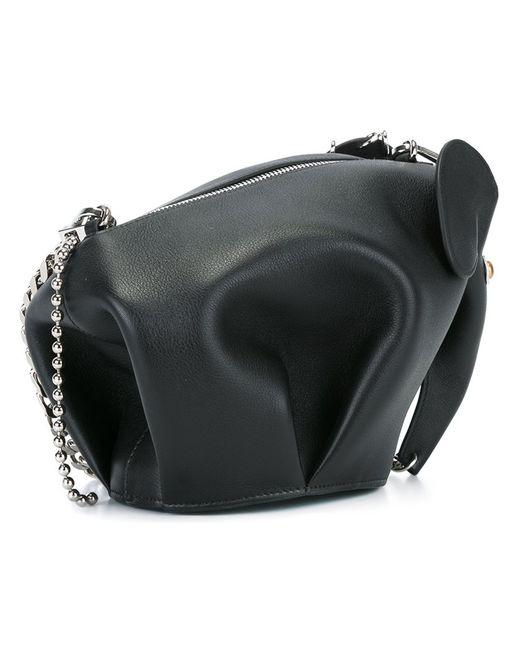Loewe | Женская Чёрная Сумка Через Плечо Punk Elephant Мини
