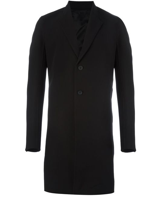 Rick Owens   Мужское Чёрный Single Breasted Coat