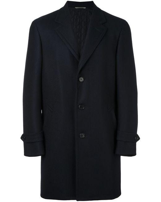 Canali   Мужское Синий Classic Single Breasted Coat