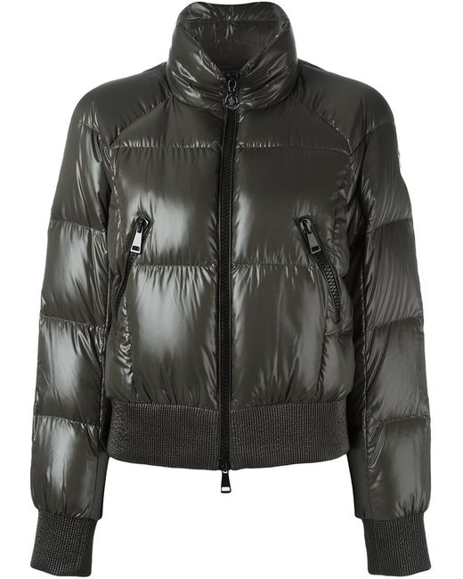 Moncler | Женская Зелёная Стеганая Куртка Бомбер Iris