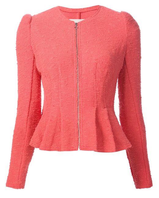 Rebecca Taylor | Женское Розовый Peplum Hem Jacket