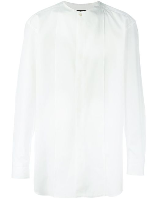 Issey Miyake | Мужское Белый Collarless Shirt