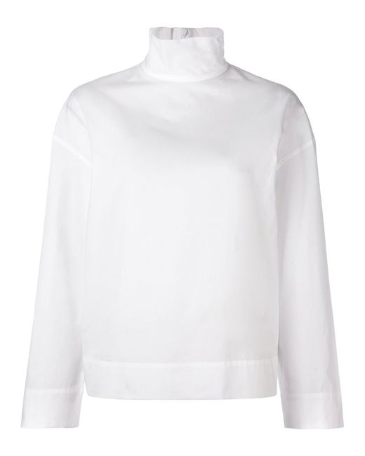 Cedric Charlier | Женское Белый Cédric Charlier Turtle Neck Top