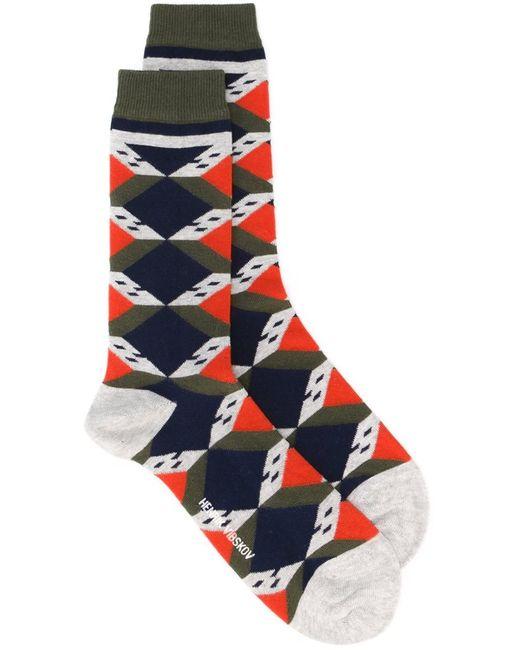 Henrik Vibskov   Женское Серый Scout House Socks