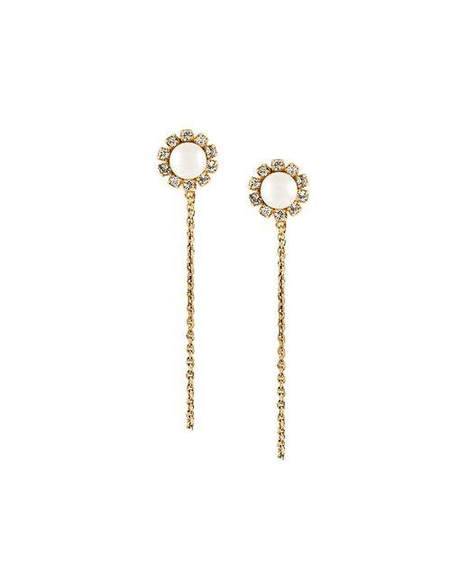 Marc Jacobs | Женское Серебристый Flower Chain Earrings