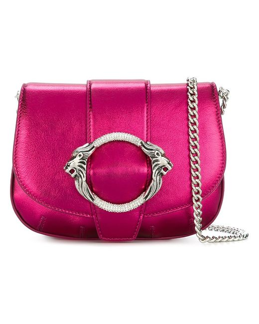 Roberto Cavalli | Женская Розовая Сумка Через Плечо На Цепочке