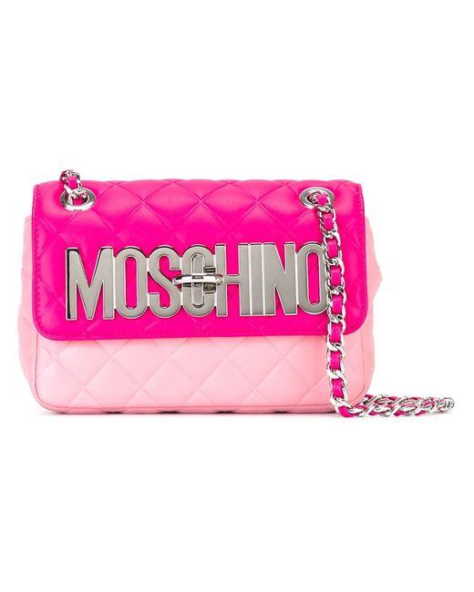 Moschino | Женская Розовая Сумка С Логотипом