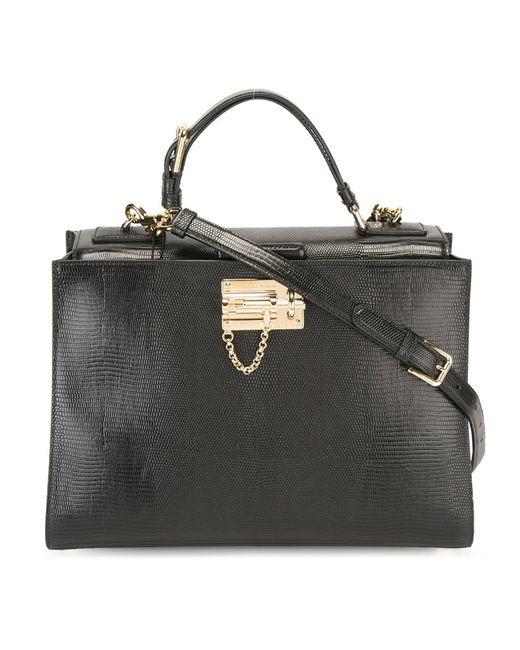 Dolce & Gabbana   Женская Чёрная Большая Сумка-Тоут Monica