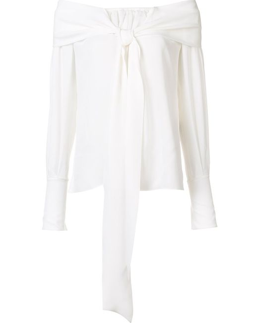 Magda Butrym | Женская Белая Блузка С Декоративным Узлом