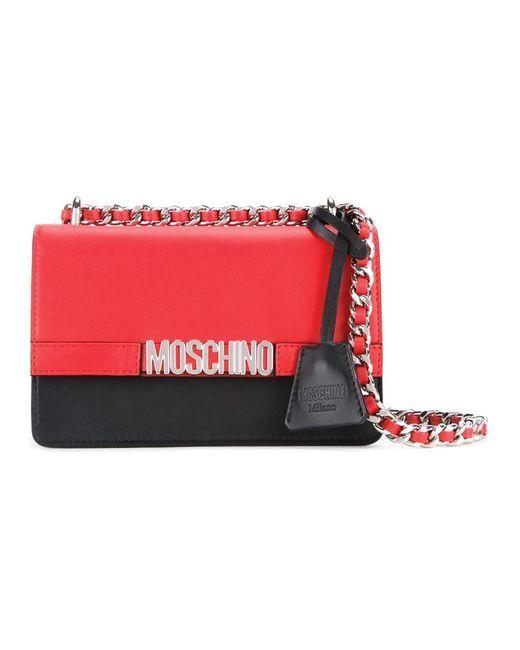 Moschino   Женская Чёрная Сумка На Плечо С Логотипом