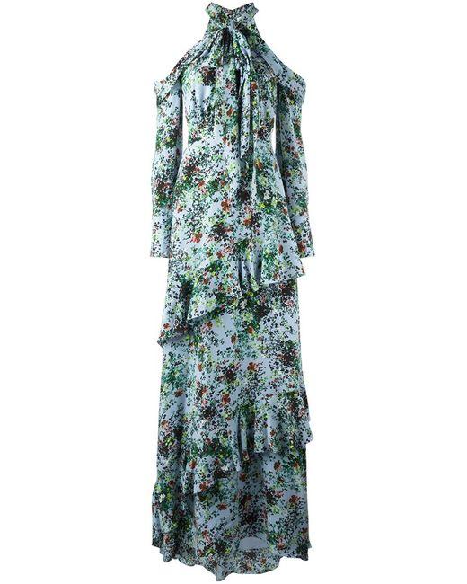 Erdem   Женское Синий Caliza Dress