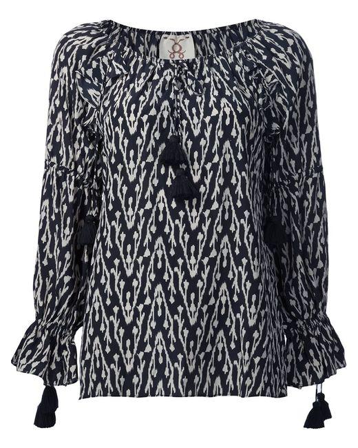 FIGUE | Женская Чёрная Блузка Clodie С Этническим Рисунком