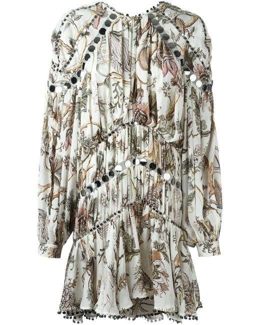 Zimmermann   Женское Многоцветный Karmic Aura Mirror-Embellished Dress