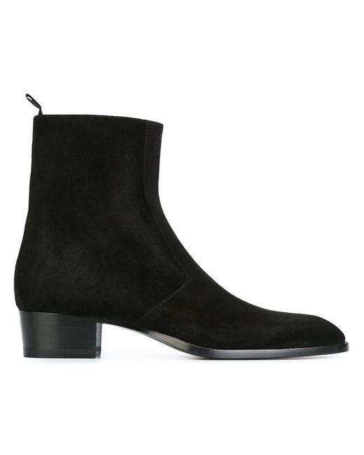 Saint Laurent | Мужские Чёрные Ботинки По Щиколотку Wyatt