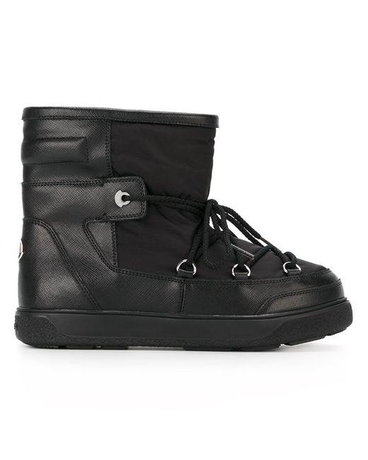 Moncler | Женские Чёрные Зимние Ботинки Fanny