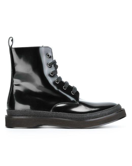 Brunello Cucinelli   Женские Чёрные Ботинки По Щиколотку