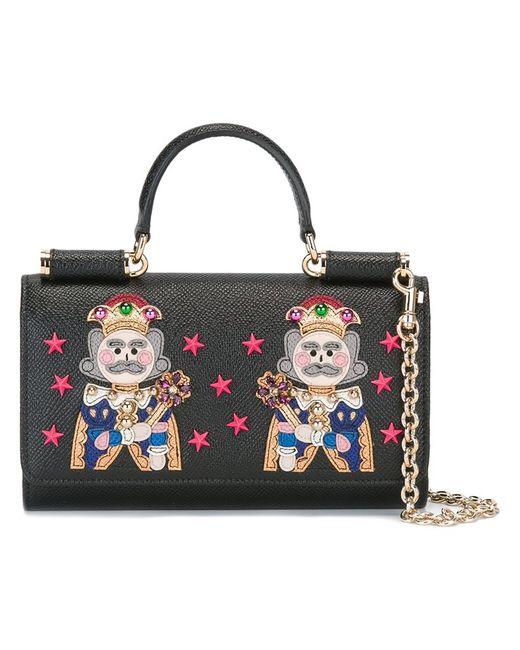 Dolce & Gabbana | Женские Чёрные Мини Сумка Через Плечо Von