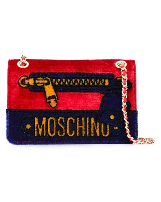Moschino | Женская Красная Сумка На Плечо