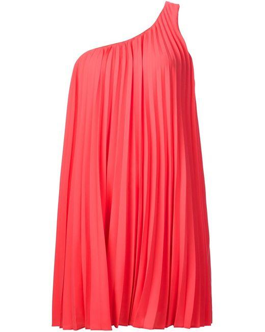 Trina Turk | Женское Розовое Асимметричное Платье Длины Мини
