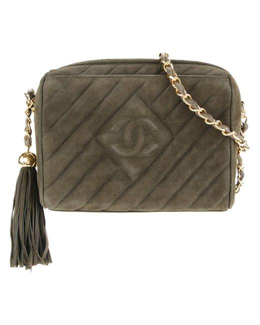Chanel Vintage | Женское Зелёный Quilted Shoulder Bag