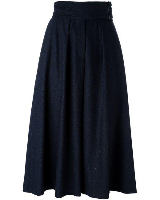 Cacharel | Женские Синие Широкие Укороченные Брюки Со Складками