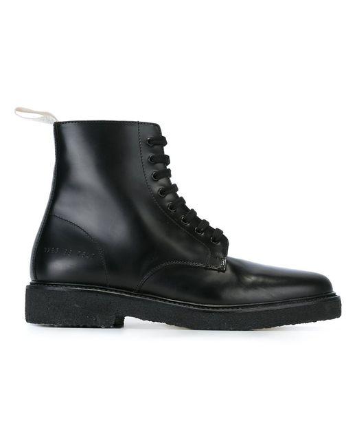 Common Projects | Женские Чёрные Ботинки В Стиле Милитари