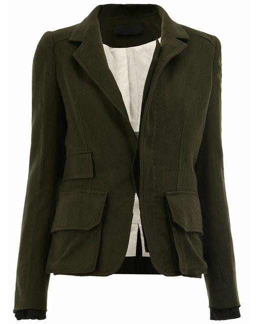 Haider Ackermann   Женское Зелёный Single Breasted Blazer