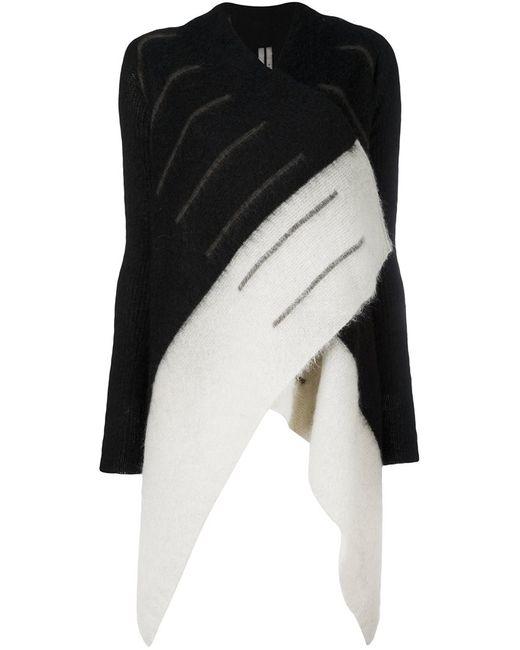 Rick Owens   Женское Чёрный Medium Wrap Cardigan