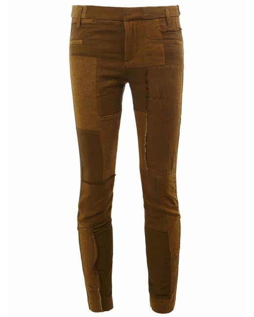Haider Ackermann   Зелёный Patchwork Skinny Trousers