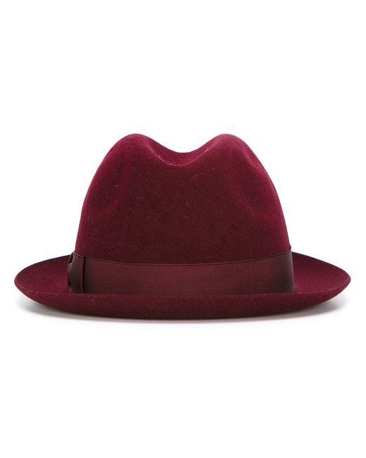 Borsalino   Мужская Розовая Фетровая-Шляпа