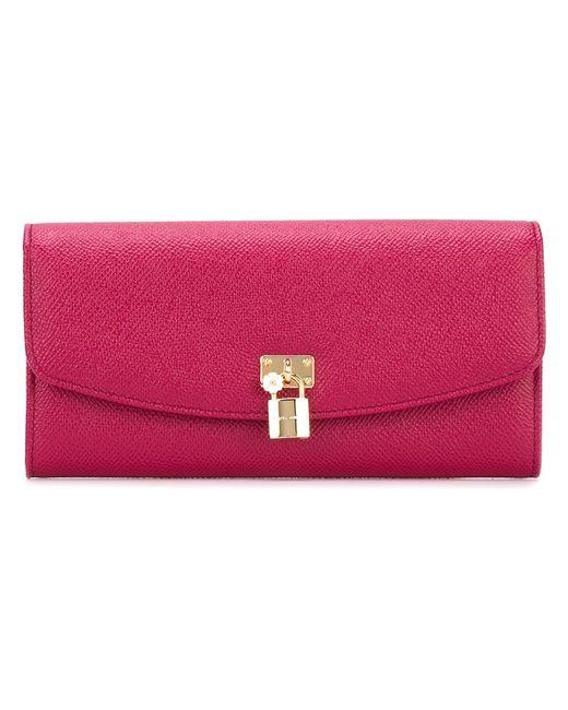 Dolce & Gabbana | Женский Розовый Длинный Кошелек Continental
