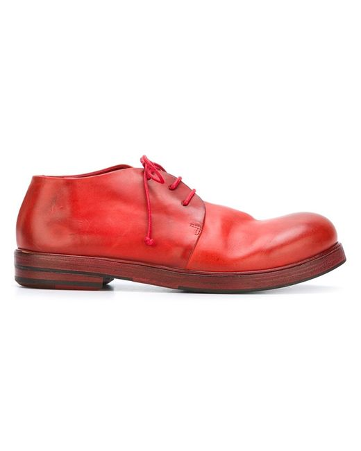 Marsell | Женские Красные Туфли На Шнуровке