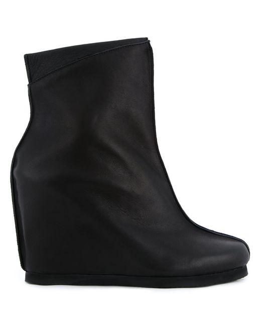 Peter Non | Женские Чёрные Ботинки На Танкетке
