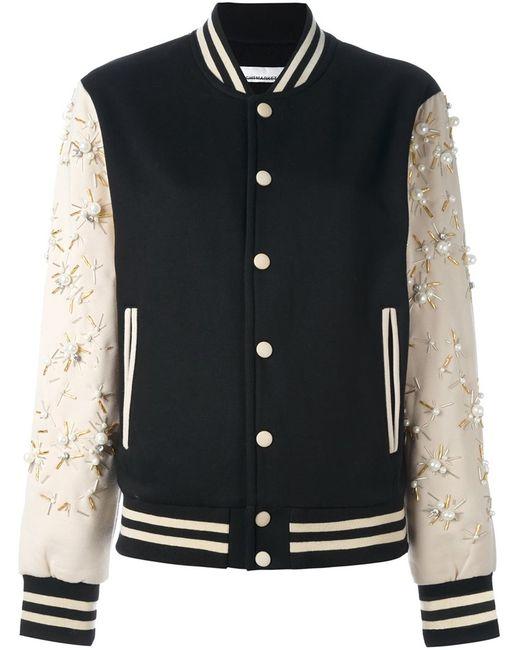 Night Market   Женское Чёрный Embellished Sleeves Bomber Jacket