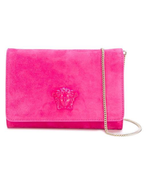 Versace | Женский Розовый Клатч Palazzo Medusa