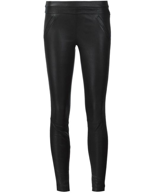RTA | Чёрный Sonia Leather Trousers