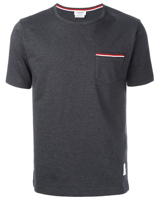 Thom Browne | Мужское Серый Pocket T-Shirt