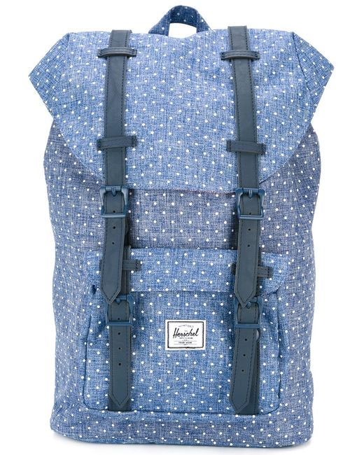 Herschel Supply Co. | Женское Синий Little America Polka Dot Backpack