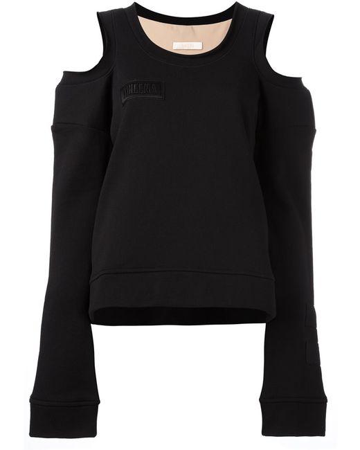 SSHEENA | Женское Чёрный Cut-Off Shoulders Sweatshirt