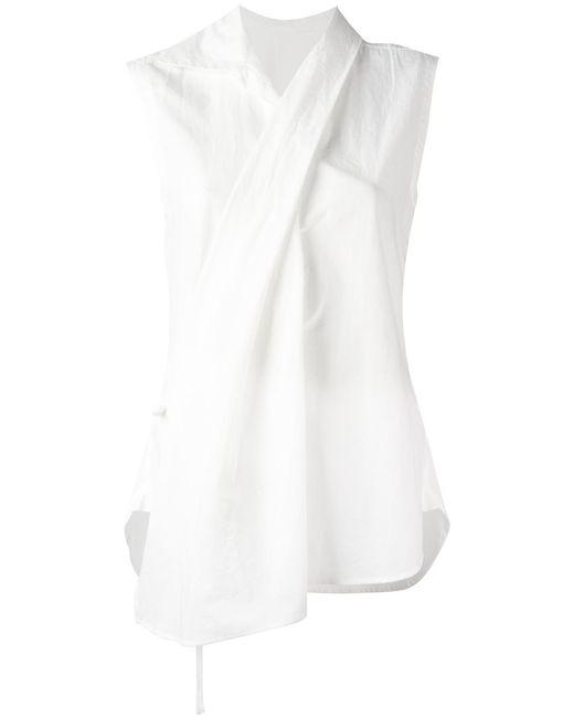 Y'S | Женская Белая Рубашка С Запахом