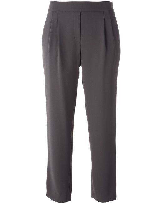 Steffen Schraut | Коричневый Loose-Fit Cropped Trousers
