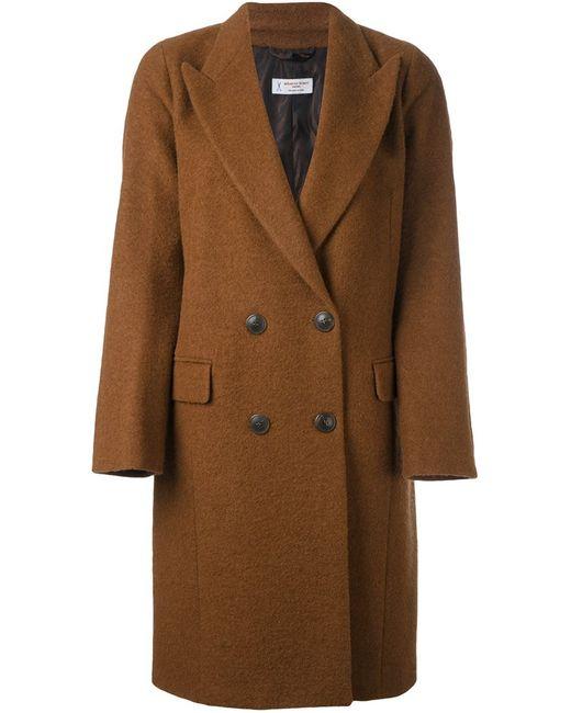 Alberto Biani   Женское Коричневое Двубортное Пальто