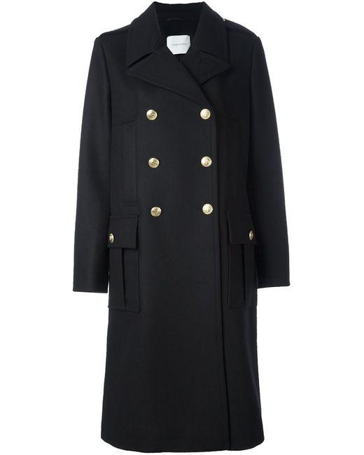 Pierre Balmain | Женское Чёрное Двубортное Пальто