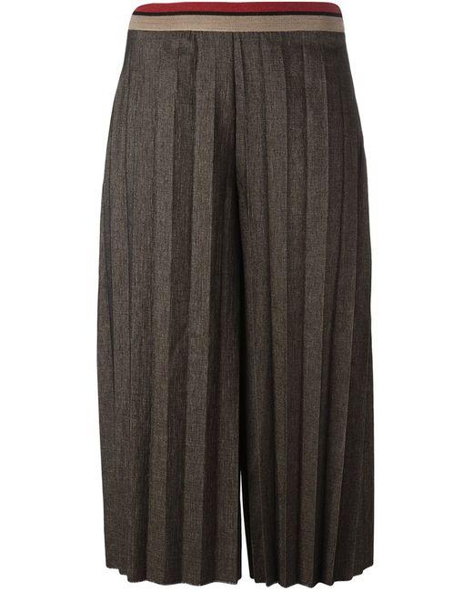 Aviù | Коричневый Pleated Cropped Trousers
